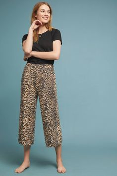 Leopard Brushed Fleece Pants | Anthropologie Summer Fashion Trends, Spring Summer Fashion, Soft Pants, On Repeat, Fleece Pants, Anthropologie, Pullover, How To Wear, Shopping