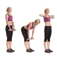 Dumbbell workout w/ stability ball