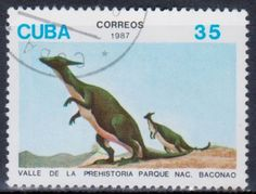 Cuba - Dinosaurs on stamps, 1987.