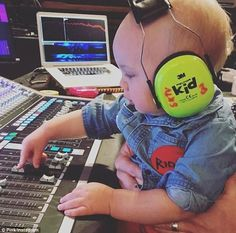 Pink brings one-year-old son Jameson to recording studio It appears Saturday was Bring Your Child To Work Day for Pink. The 38-year-old pop diva posted a sweet Instagram photo that day of her one-year-old son Jameson fiddling with the controls in a recording studio. A grown-up was holding him in place and the toddler had a pair of headphones on. Mother-son time: Pinkposted a sweet Instagram photo Saturday of her one-year-old son Jameson fiddling with the controls in a recording studio…