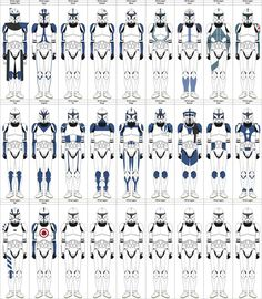All these clones are canon as far as names go, while several clones have markings created by . I am in the process of adding more clones.