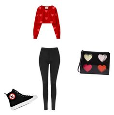 """""""Untitled #141"""" by aayushis on Polyvore featuring Christopher Kane, Topshop and Moschino"""