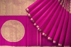 Beautiful Magenta Pink Kanjeevaram Saree