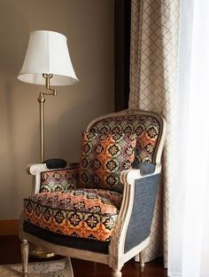 Chairs and lamps