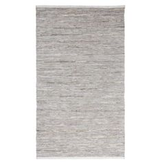 super cool grey cowhide suede and silver leather rug - 5X8 $149