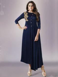 Nitya Navy Blue Designer Kurti