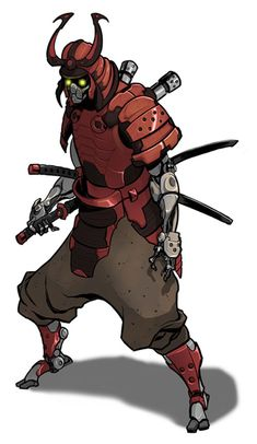 Swords are always drawn on the wrong side. samurai concept art join us http://pinterest.com/koztar/