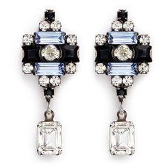 Dannijo 'Aix' Swarovski crystal drop earrings ($220) ❤ liked on Polyvore featuring jewelry, earrings, swarovski crystal jewelry, stud earrings, dannijo jewelry, baguette earrings and swarovski crystal jewellery