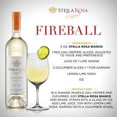 Stella Rosa original recipe: Stella Rosa Fireball, with Stella Rosa Bianco. Fore more of our signature specialties, visit http://stellarosawines.com/