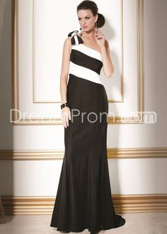 Graceful Bowknot Mermaid/Trumpet One-Shoulder Floor-Length Mother of the Bride Dresses