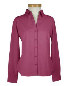Womens Polynosic/Polyester Open Neck Solid Waffle Weave Pattern Shirt Tri mountain 871 #buttondown #formal #dressshirt #Trimountain #SlimFit    #love #followme