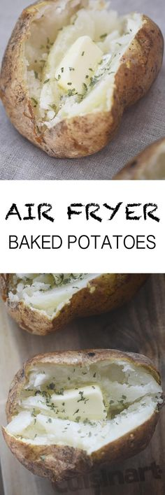 Air Fryer Baked Potatoes Recipe Diaries You are in the right place about air frying brussel sprouts Here we offer you the most beautiful pictures about the air frying breakfast you Air Fryer Oven Recipes, Air Frier Recipes, Air Fryer Recipes Potatoes, Convection Oven Recipes, Air Fryer Baked Potato, Baked Potatoes, Cheesy Potatoes, Cooks Air Fryer, Actifry Recipes