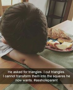 Why my kid is crying. Funny Memes, Hilarious, Jokes, Funny Animal Pictures, Funny Animals, Reasons Kids Cry, Toddler Rules, Angry Baby, Stupid Kids