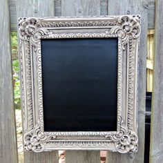 Chalkboard with a cool frame?  I might love that idea!
