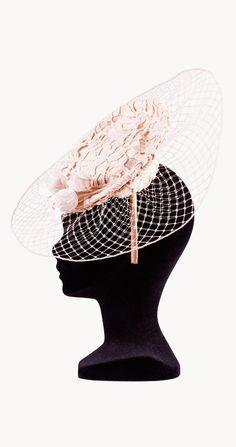Alquiler Tocado de tul con sombrerito | Clara Gortázar | 24FAB | 919