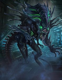Top 10 Aliens Queens from the Alien vs. Included are the Queen Mother, Matriarch, Empress and other badass Queen Aliens Alien Vs Predator, Predator Alien, Science Fiction, Alien Creatures, Fantasy Creatures, Alien Character, Character Art, Xenomorph Types, Dragon Rey
