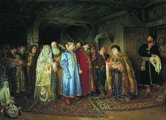 Клавдий Лебедев Боярская свадьба 1883 г.