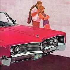 1967 Chrysler Convertible Ad #Illustration #Artwork #60s #Sixties