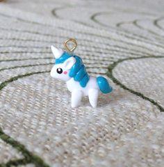 Cute Kawaii Polymer clay charm Unicorn by PintSizedPanda on Etsy, $7.50