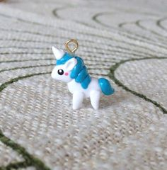 Cute Kawaii Polymer clay charm Unicorn by PintSizedPanda on Etsy, $7.50