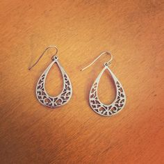 Silver earrings Silver earrings that go with everything! Only worn a few times. Bundle and save! Jewelry Earrings