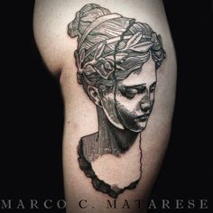 Sculpture tattoo etching Marco C. Matarese Milan
