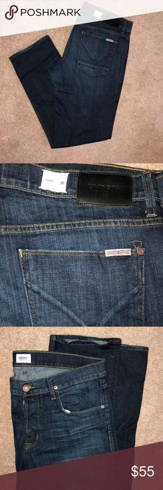 Men's Hudson jeans Dark blue denim. Great fit and style. Gently used. Size 36x31 Hudson Jeans Jeans Straight