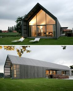 I like the continuation of the walls and roof to form an outdoor covered area without compromising on views