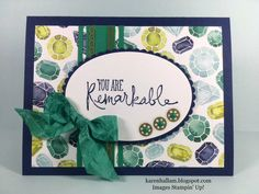 I have a super simple card for you to make this morning. It is easy, but the beautiful Designer Series Paper makes it look more detaile...
