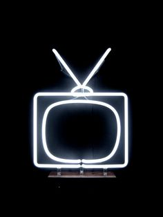 Neon Television Wall or Tabletop by MarcusConradPoston on Etsy