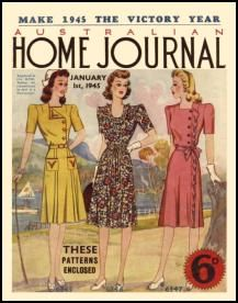 Mid Late 1940s Australian Home Journal Fashion Cover Pictures 1945-1949