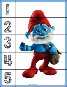 3 Year Old Children Smurfs Puzzle Making - Preschool Children Akctivitiys Numbers For Kids, Numbers Preschool, Preschool Activities, Educational Toys For Preschoolers, Number Puzzles, Number Bonds, Autism Education, Diy Back To School, Middle School