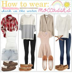 """""""How to wear Moccasins"""" by the-polyvore-tipgirls ❤ liked on Polyvore....1,3 & 4!"""