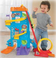 Amazon.com: Fisher-Price Wheelies Loops 'n Swoops Amusement Park: Toys & Games