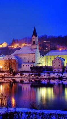 city_germany_river_night_lights