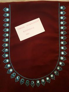 Best 12 Varna Embroidery 8125015102 Page 488922103292454469 SkillOfKing. Cutwork Blouse Designs, Kids Blouse Designs, Simple Blouse Designs, Embroidery Neck Designs, Simple Embroidery, Blouse Neck Designs, Hand Designs, Embroidery Works, Embroidery Suits