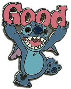 """Pin 77203: Stitch """"Good"""" pin. The one I have is a scrapper, it seems, but it's still cool."""