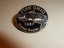FISH on Stickpin ANGLING Lapel Pin Badge FISHING