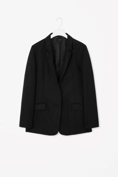 Unstructured wool blazer