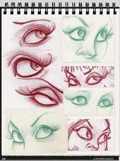 I went through a phase of drawing eyes and well defined eyebrows - this brings back memories. By Joe Capobianco .