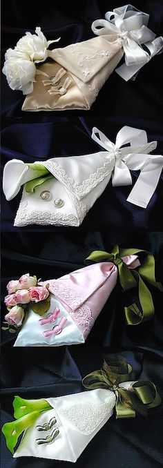 ateliersarah's ring pillows (bouquet style)