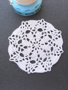 miniature dollhouse silk crochet table top doilie IGMA artisan OOAK | eBay