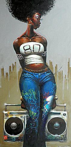 Beautiful black woman with color thats weaved into her personality .. her music expressions are painted in her soul