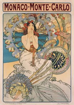 Amazon.com: Monaco Monte - Carlo Vintage Poster (artist: Mucha, Alphonse) France c. 1897 (16x24 Giclee Gallery Print, Wall Decor Travel Poster): Home & Kitchen