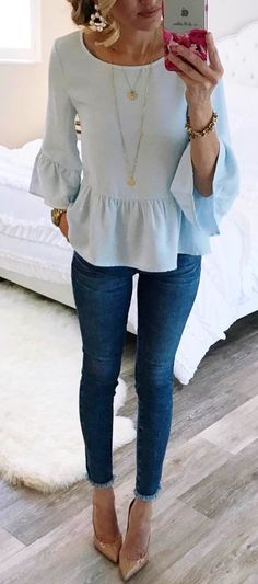 #fall #outfits  women's white long-sleeved shirt #casualsummeroutfits