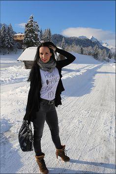 Modeblog - Fashion Fotos - Winterlook im Schnee - Schloss Elmau