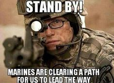 This is so funny. GO Marines, cause Rangers lead the way lol