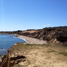 Montauk memories! Walking to the cliffs with mommy!
