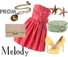 """""""Prom: Melody Inspired"""" by disneydiva305 ❤ liked on Polyvore"""