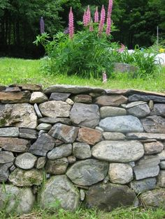 great stone retaining wall